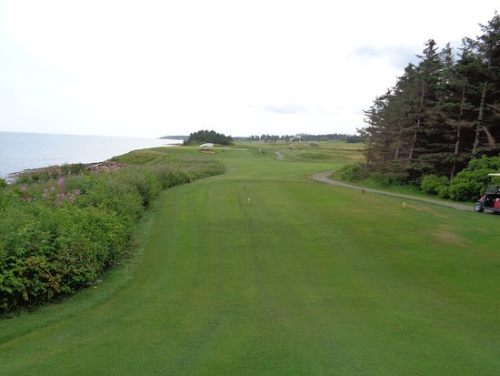 Pugwash, แคนาดา: Typical Par 3 at Northumberland links.