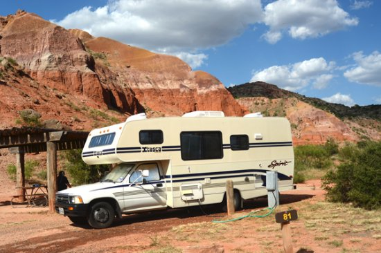 Palo Duro Canyon State Park: campsite