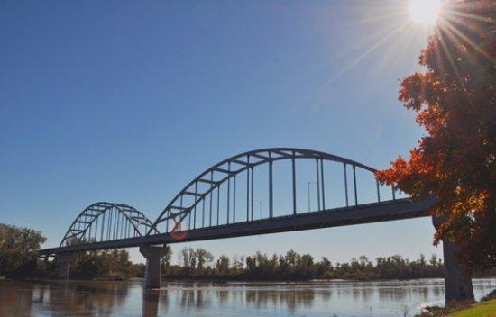 Centennial Bridge that I took in Leavenworth, Kansas, at Riverfront Park.