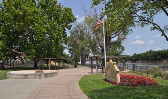 Leavenworth Landing Park along the Missouri River