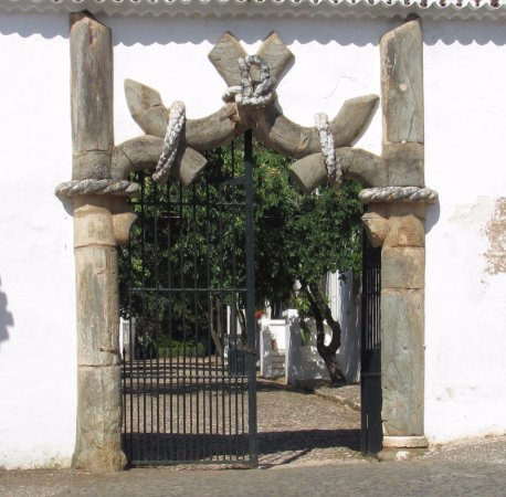 Vila Vicosa, Portugal: Porta Lateral com detalhe em marmore