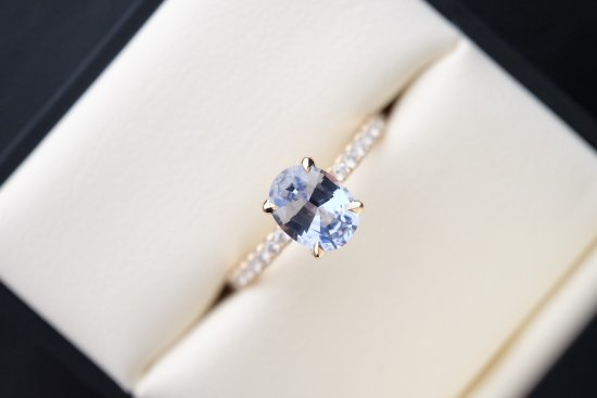 rings blue ring custom light diamond hand engagement