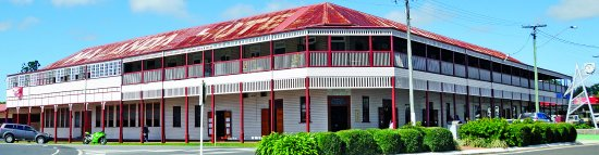 Malanda Hotel Motel Largest Wooden Hotel in Australia.  Built in 1911 and still family owned.