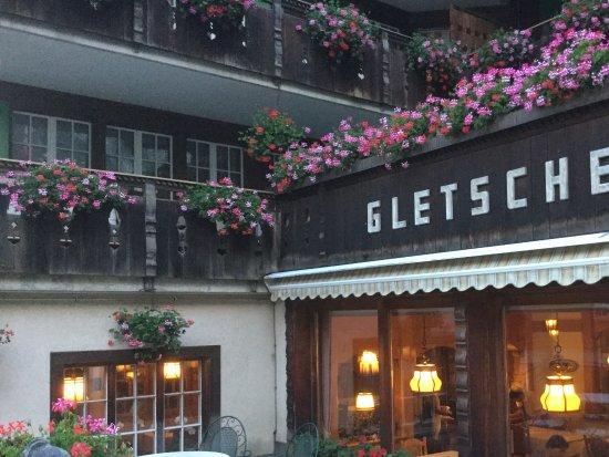 Hotel Gletschergarten: View from terrace looking towards dining room.