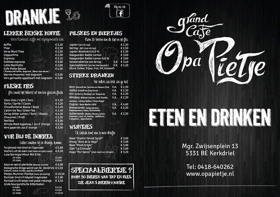 Kerkdriel, Nederland: Grand Cafe Opa Pietje