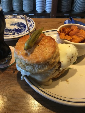 Addison, TX: my Chicken in a Biscuit! Pickled Okra was very nice complement, too.