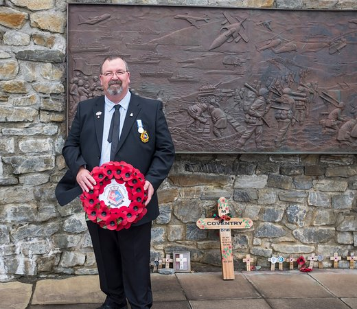 Stanley, Falklandsöarna: Laying a Wreath