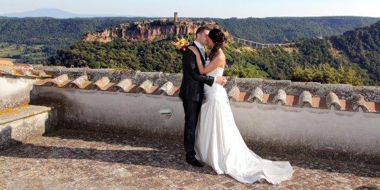 Lubriano, إيطاليا: Foto in terrazza esclusiva, per gli sposi che ci scelgono come location per il loro matrimonio