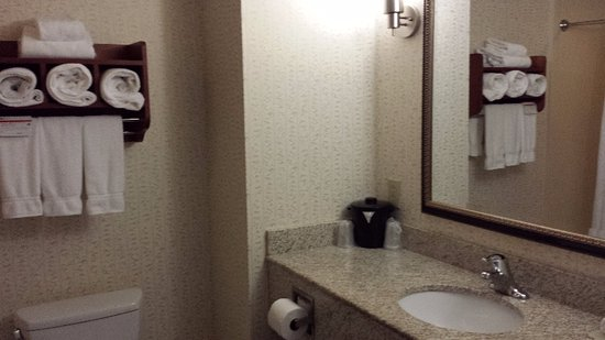 Elkridge, MD: Clean bathroom with enough towels for the family
