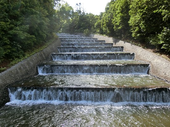 Okusawa Watersource Staircase Spillway Channel