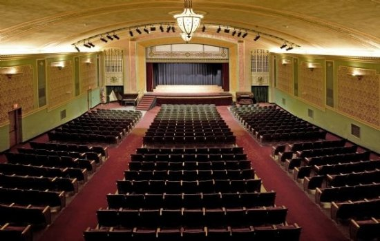 Viroqua, WI: Overhead shot of the Historic Temple Theatre seating.