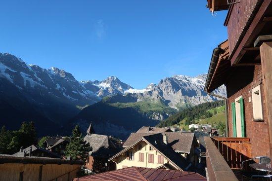 Hotel Jungfrau: From the balcony toward Breithorn
