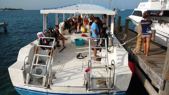 Utila, Honduras: Boat