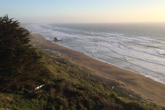 Point Arena, Калифорния: Blufftop view of Irish Beach