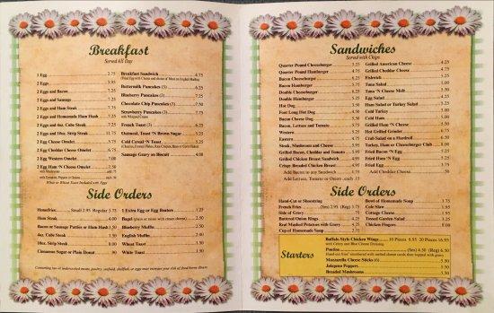 Shoreham, VT: menu