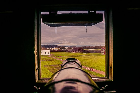 Fort Vancouver National Historic Site: View from the top of the bastion