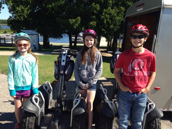 Seaquist Tours Off-Road Segway Adventures: The Grandkids ready for a good time