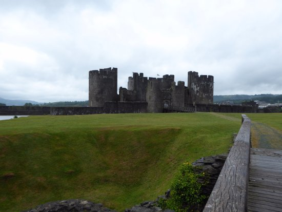 Caerphilly, UK: View of castle