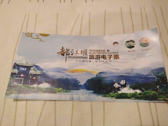 Dujiangyan, Cina: ticket