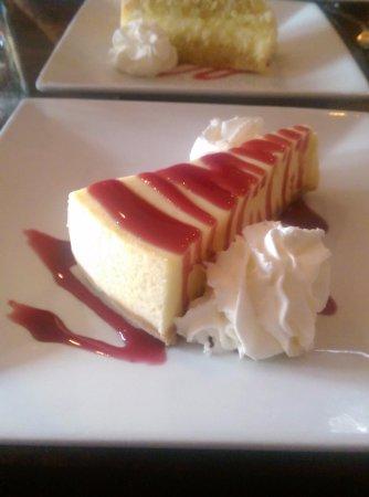 The Phoenix: Cheesecake with Raspberry Sauce
