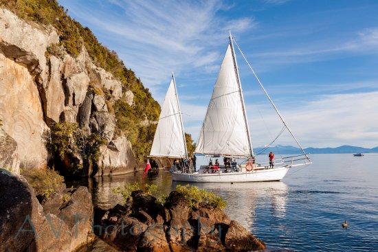 Таупо, Новая Зеландия: At the rock carvings