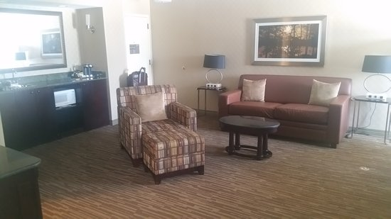 DoubleTree by Hilton Hotel Raleigh-Durham Airport at Research Triangle Park: Room 563, the Executive Suite. Living area