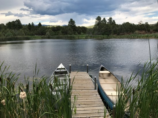 Abode at Willowtail Springs: Dock area of the lake.