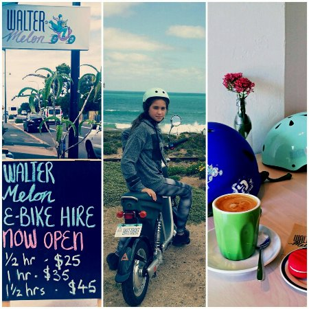Walter Melon Port Elliot, the place to get on your e-bike and debrief after a great ride!