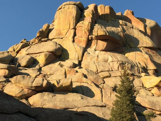 The  beautiful and natural formations of rocks at Vedauwoo, Laramie