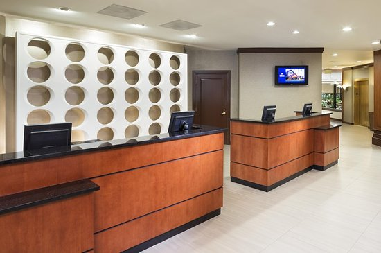 Reception and Front Desk area at the Hilton Auburn Hills Suites