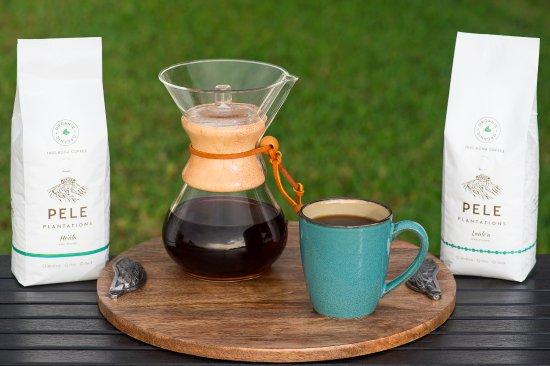 Honaunau, Гавайи: Enjoy 100% Organic Kona Coffee at Pele Plantations