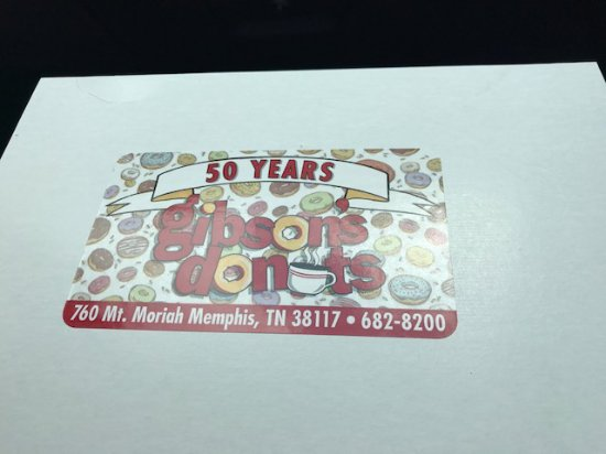 Gibson's Donuts: Donut box