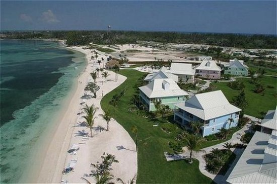 West End, Grand Bahama Island: Aerial view