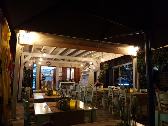 Almyra restaurant, Chalki, Greece