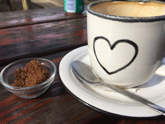 Lavender Blue Market: My empty cup - the cappuccino was excellent.