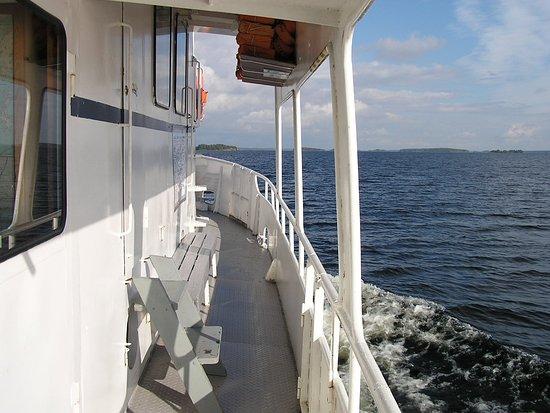M/S Jaarli: Maisemaa Saimaalta. Scenery from Saimaa.