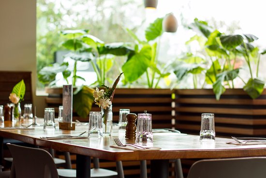 Peregian Beach, Austrália: Dining area, light, airy & full of greenery