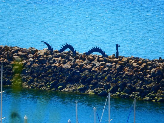 a sea monster at the breakwater picture of sunset hill park