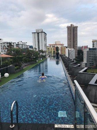 Bild fr n holiday inn express singapore - Singapore tallest building swimming pool ...
