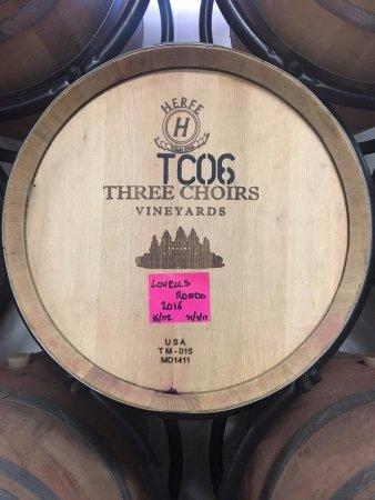 Newent, UK: Red wine in progress i stored in Oak barrels