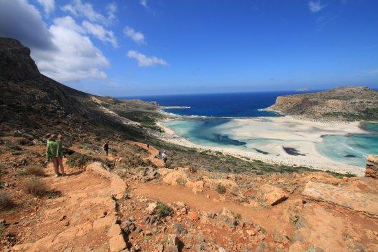 Balos Lagoon: Steintreppe zur Balos Bucht