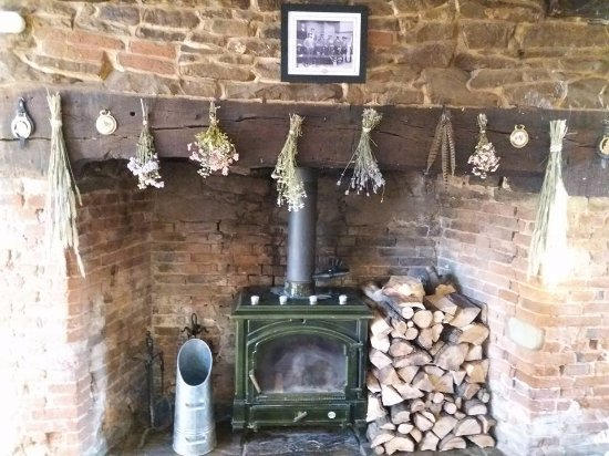 Cradley, UK: LOunge Fireplace