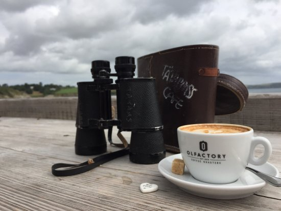 Portscatho, UK: Perfect Place to be for really good coffee with a perfect view!