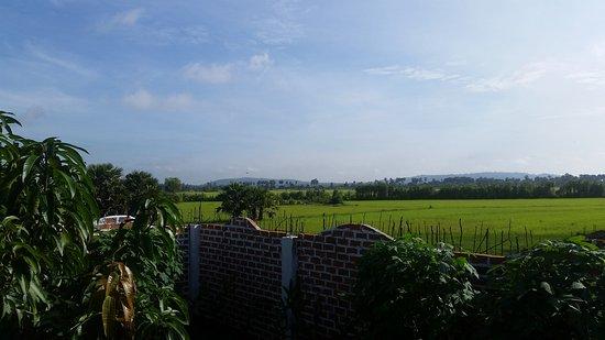 Kampong Thom, Kambodja: vue de la chambre et du balcon