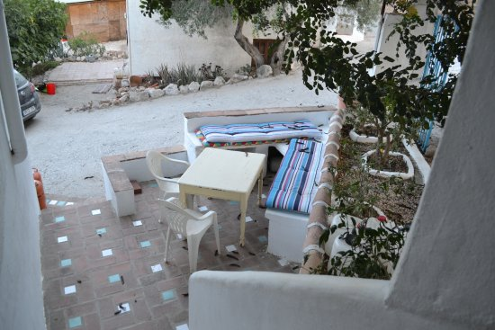 The Olive Branch: top flat private outdoor dining area