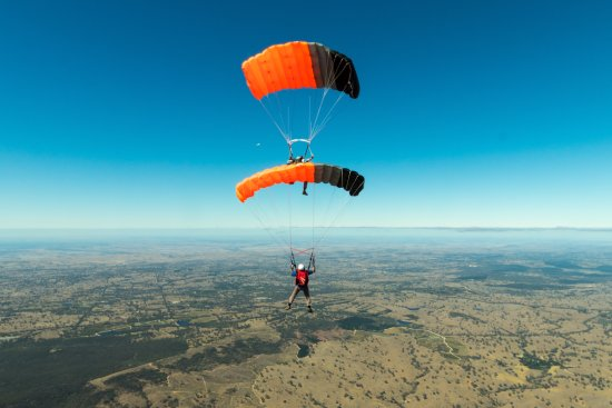 Rowland Flat, Australia: Our Canopy Formation team over the Barossa