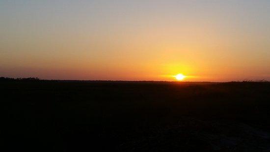 Folly Beach, ساوث كارولينا: View of the sunset