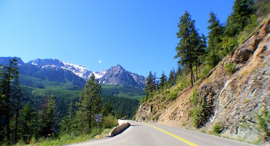 Pemberton, Canada: The road to Lillooet.