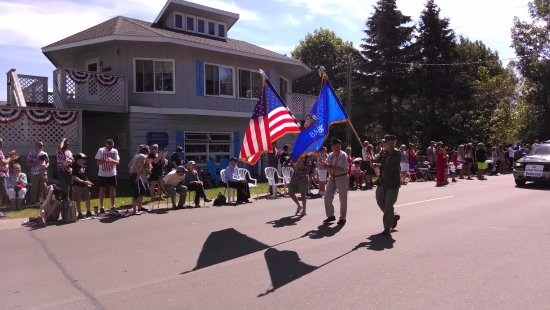 La Pointe, WI: Fourth of July Parade goes right in front of us!