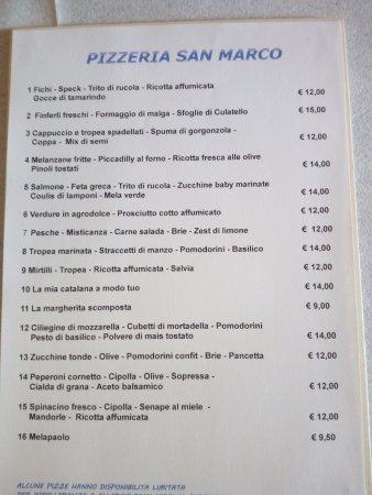 Onara, Ιταλία: il menu della settimana